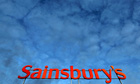 A Sainsbury's supermarket sign is seen in London