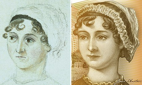 Jane Austen 'airbrushed' on new £10 note, claims biographer | Money | The Guardian - Jane-Austen-006