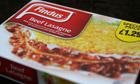 Findus brand beef lasagne