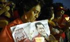 Supporters of Venezuelan Hugo Chavez