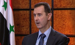 Bashar al-Assad: 'We can't negotiate with fragmented rebels'