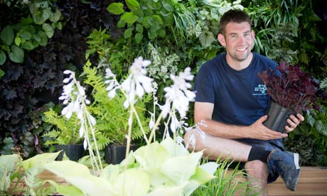 Tony Woods, 27, finalist in the RHS National Young Designer of the Year category 2013