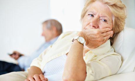 unhappy older woman