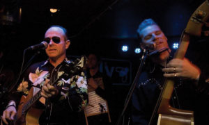 Mark Kermode and his band The Dodge Brothers