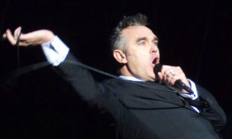 Morrissey performing live in Germany
