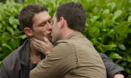 Cheer the Beeb for presenting gay relationships as it presents straight ones ...