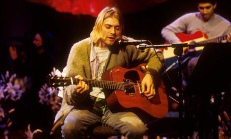 Kurt Cobain at MTV's Unplugged concert