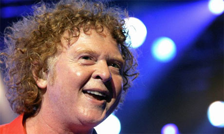 Mick Hucknall, formerly singer with pop band Simply Red