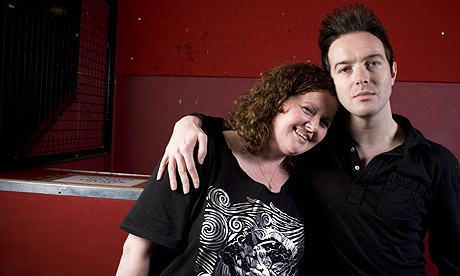 Glasvegas' James Allan with Geraldine Lennon