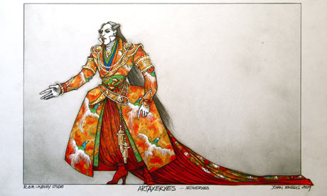 Costume designs for the Classical Opera Company's Artaxerxes