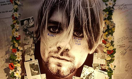 Kurt Cobain shrine at Virgin Megastore Oxford Street, London