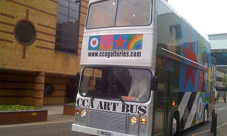 Art bus with Peter Blake