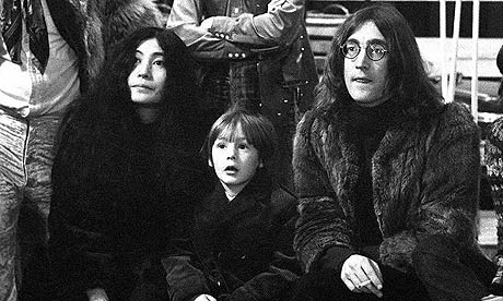 Julian Lennon with John Lennon and Yoko Ono