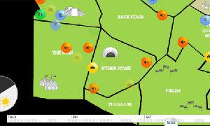 Glastonbury interactive map