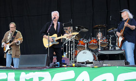Crosby, Stills and Nash performing during the 2009 Glastonbury Festival