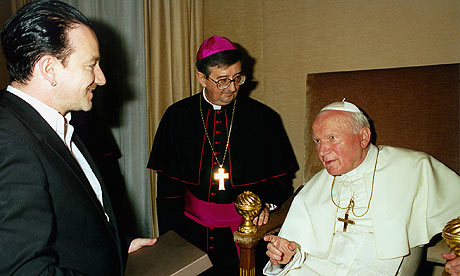Bono and Pope John Paul II