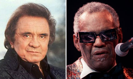 Johnn Cash and Ray Charles