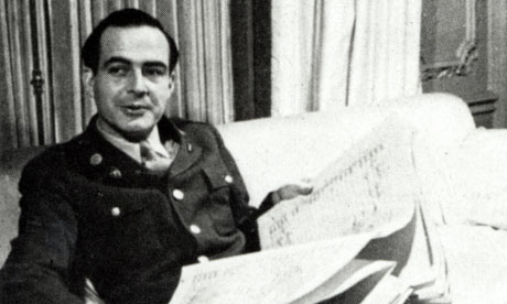 Samuel Barber in 1944 with the score of his new Second Symphony, dedicated to the US Army Air Force. Photograph: Lebrecht Music & Arts Photo Library