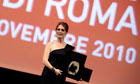 Best on show ... Julianne Moore accepts the Marcus Aurelius award at the Rome film festival.