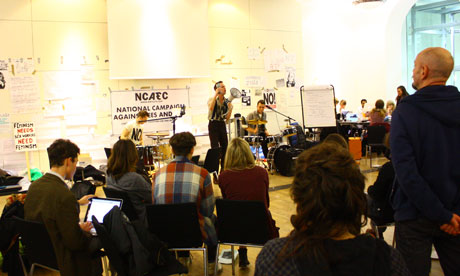 The Agitator performing at UCL, London
