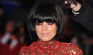 Lily Allen at the Brit awards 2010