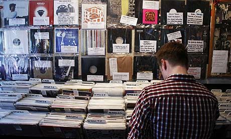 Vinyl records in Rough Trade in London