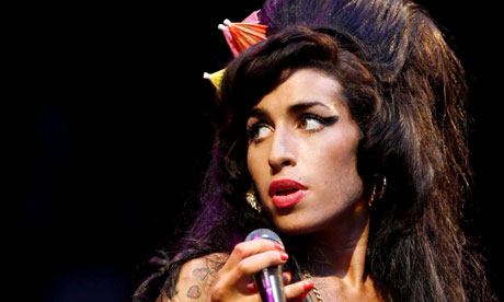 Amy Winehouse performing at Glastonbury in 2008