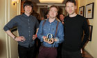 Kaiser Chiefs pose with trophy at the Q Awards