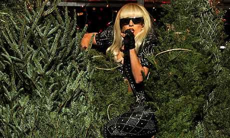 Lady Gaga performs at the Jingle Ball