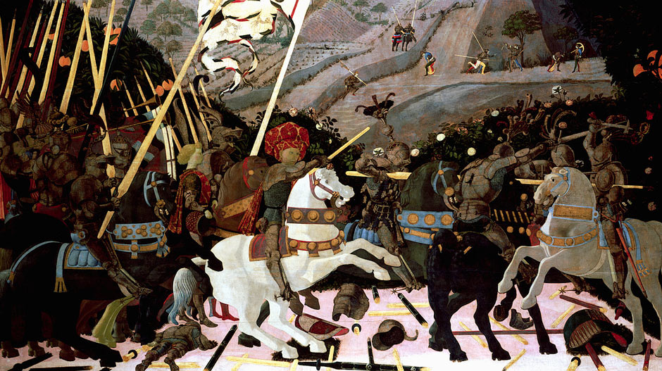 uccello battle of san romano. Detail from The Battle of San