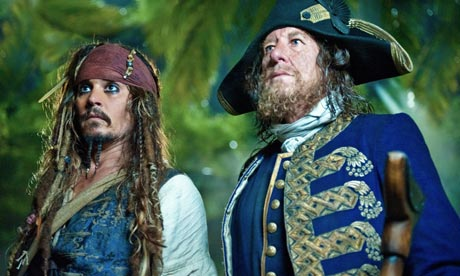 'Pirates of the Caribbean' sails into top spot
