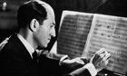 Making A George Gershwin making an alteration to the score for 'Porgy and Bess'