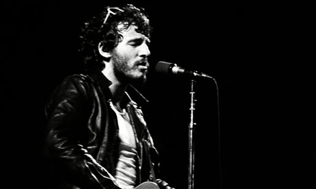 Bruce Springsteen and the E Street Band in concert.