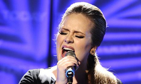Adele performing in 2011