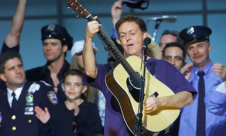 Paul McCartney At The Concert For New York In 2001