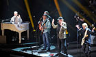 Brian Wilson, David Marks, Mike Love and Al Jardine of the Beach Boys perform