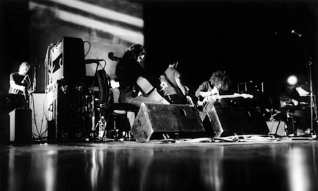 In the dark  Godspeed You! Black Emperor.
