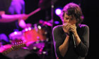 Mick Jagger performs with the Rolling Stones play a warmup gig in Paris on 25 October
