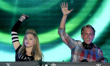 Madonna joins 22-year-old Swedish producer Avicii onstage at Ultra music festival