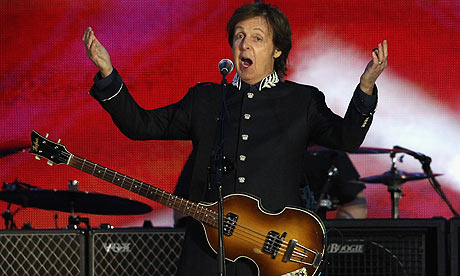 McCartney at Olympics (pic by Guardian.co.uk)