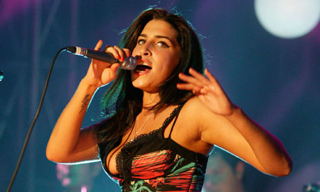 Amy Winehouse at the Mercury awards in 2004