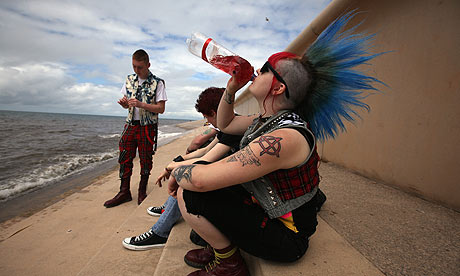 Punks at the Rebellion festival in Blackpool