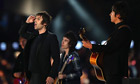 Liam Gallagher of Beady Eye performs at 2012 Olympic closing ceremony