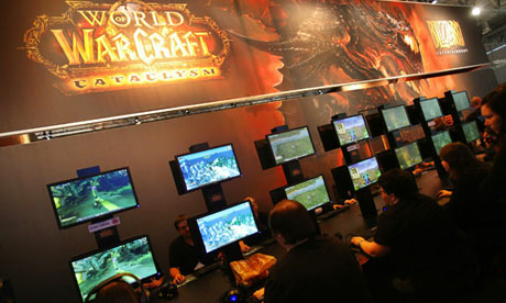 Gamers check out the game World of Warcraft in Germany in 2010