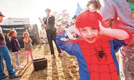 A young reveller at Camp Bestival