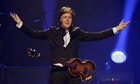 Paul McCartney performs in Orlando, US, on 18 May.