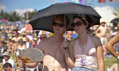 Made in the shade … like 2010, Glastonbury 2013 could be a sunny one.