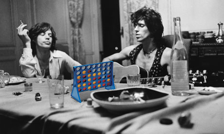 Rolling Stones play Connect 4