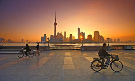 Shanghai's central Bund district.