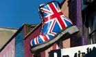 Giant British Dr Marten's boot display on
